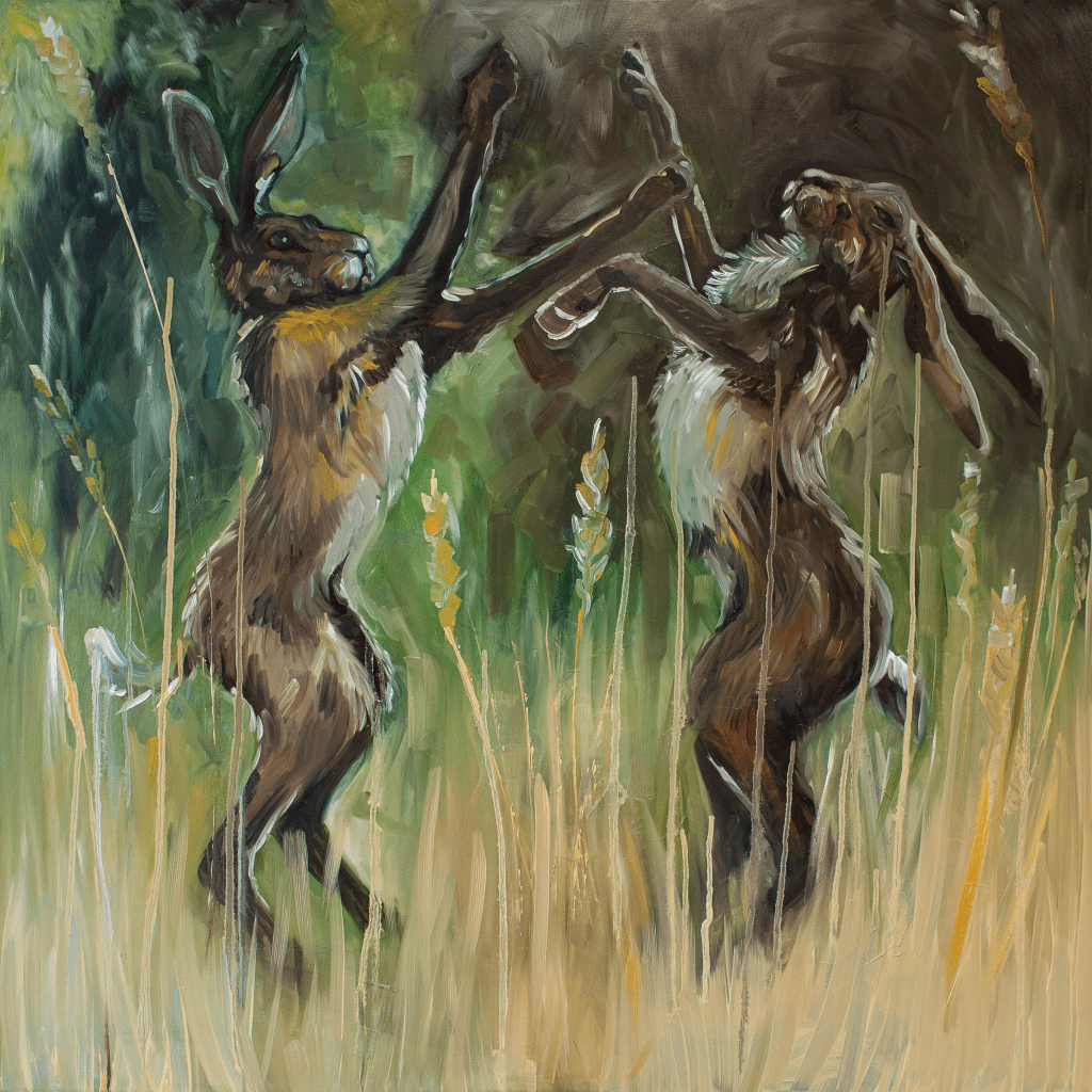Louise Catterall - Boxing Hares