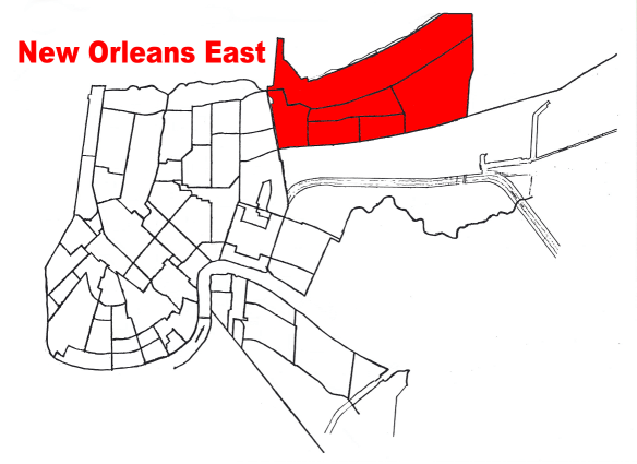 New Orleans East Geography