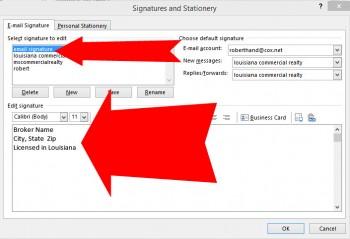 edit signature
