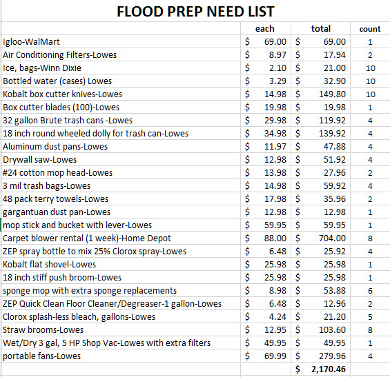 flood cleanup costs