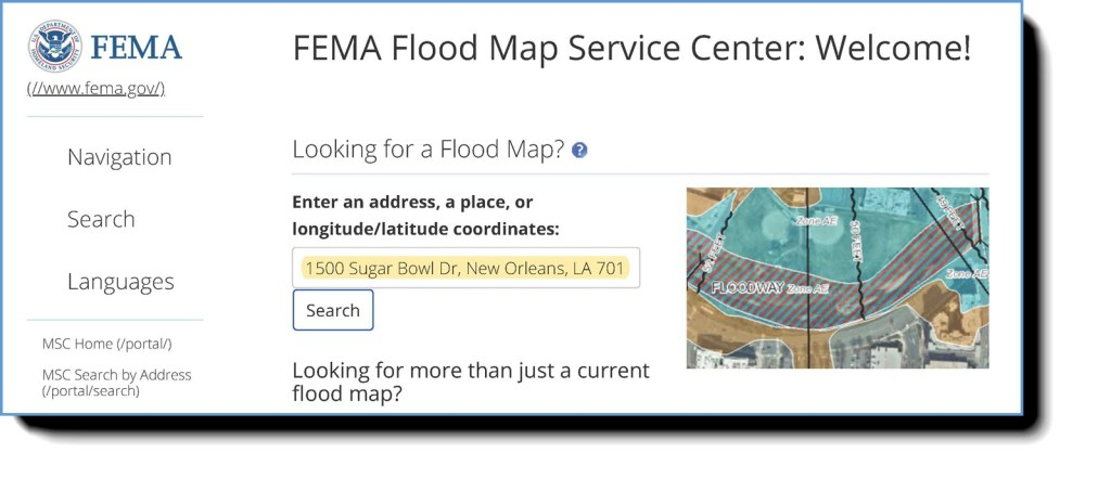 flood map search