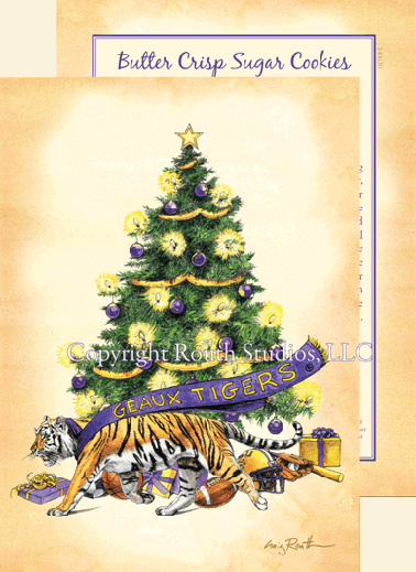 LSU Christmas Cards Geaux Tigers Artist Craig A Routh