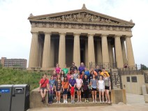 One the way to Nationals, we visited the Parthenon (not the one in Greece).