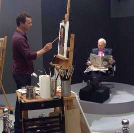 Louis-Smith-painting-John-Humphries-at-the-Sky-Arts-Portrait-Artist-Of-The-Year-Competition-2015