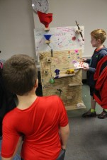 The elementary Rube Goldberg competition was a popular event.