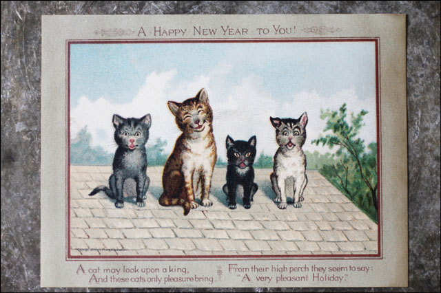 vintage-cats-new-years-postcard