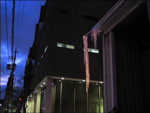 icicle-at-dusk