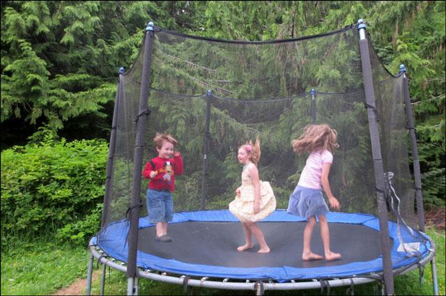 on-trampoline