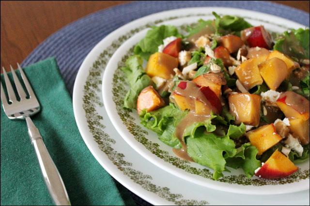 peach-feta-almond-salad
