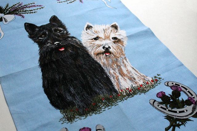 thrifted tea towel dogs