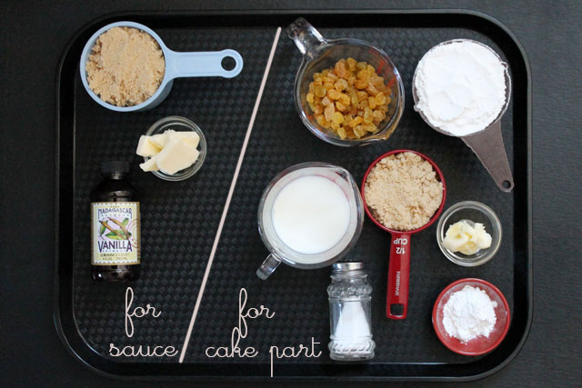 ingredients-for-caramel-raisin-pudding