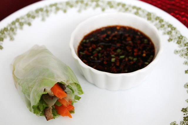 homemade-salad-roll aka Fresh Spring Rolls