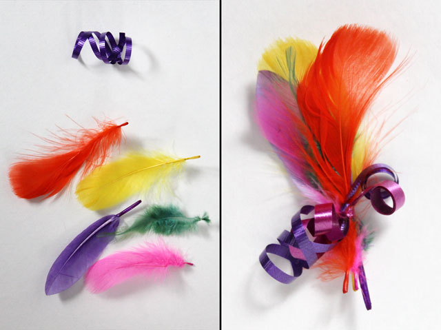 diy feather gift decoration handmade gift topper
