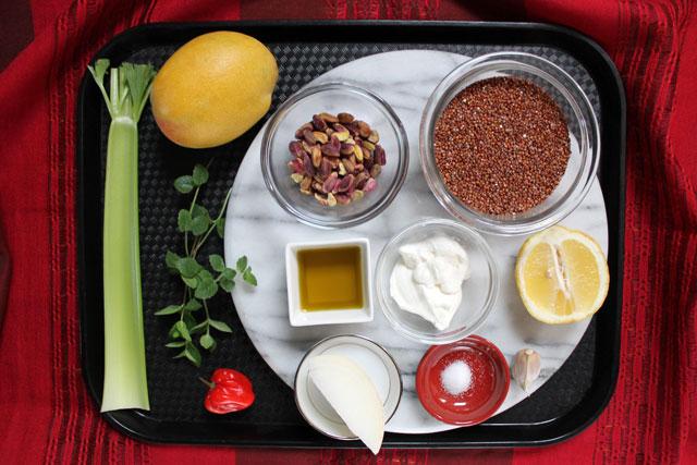 ingredients-quinoa-mango-pistachio-salad