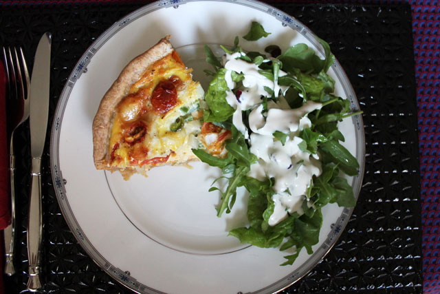 quiche-and-salad-dinner