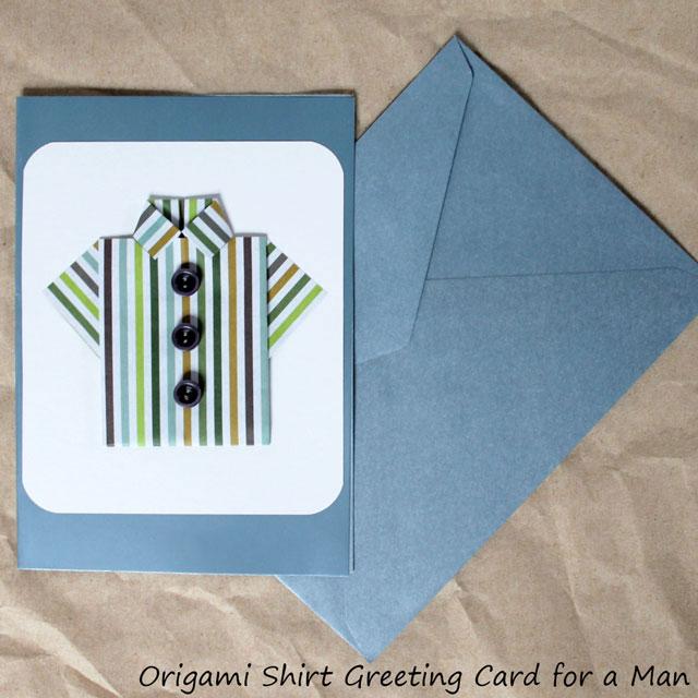 handmade-fathers-day-card-origami-shirt diy