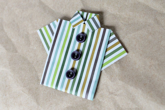 origami-mans-shirt-for-greeting-card-with-buttons