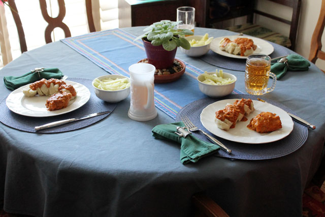 table-set-with-food-chicken-paprikash