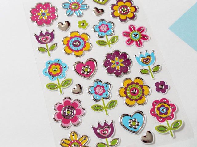 sticker-sheet-with-textured-flowers