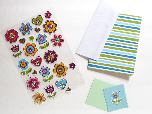 supplies-to-make-an-easy-greeting-card-with-stickers