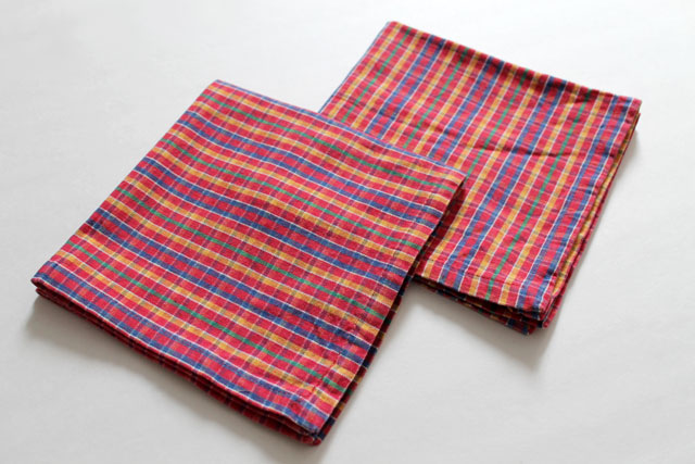 thrifted-napkins-madras-plaid-cotton