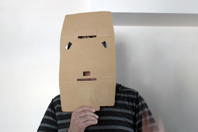 cardboard-face