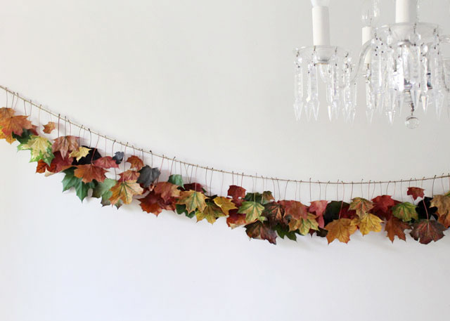 handmade-fall-maple-leaf-garland-using-real-leaves-and-twine