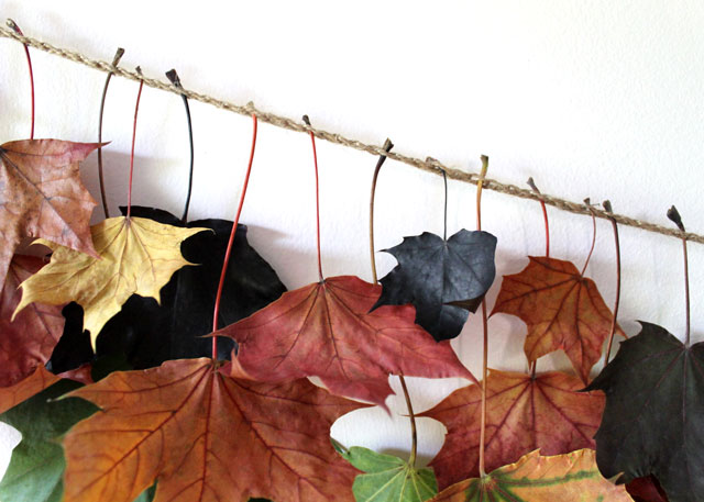 how-to-attach-leaves-to-twine-chain-to-make-fall-garland