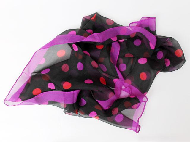 thrifted-polka-dot-silk-scarf