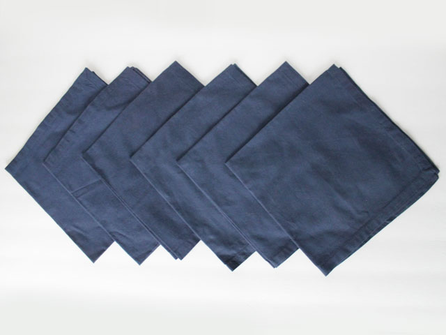 thrifted-cotton-napkins-6-navy-blue