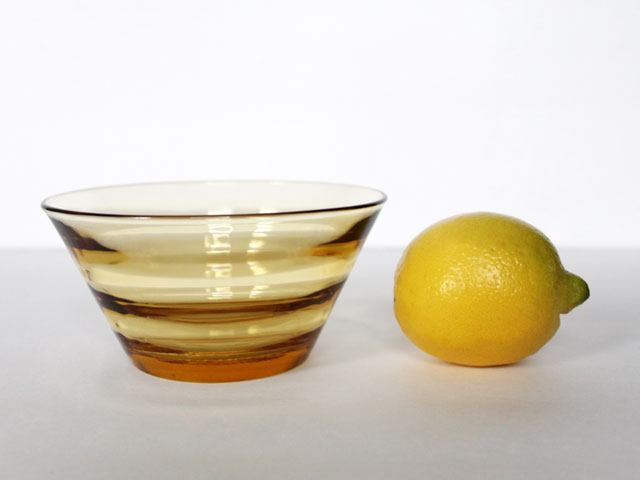 thrifted-small-glass-bowl-amber-colour-modern-look