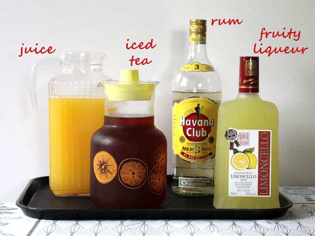 ingredients-to-make-an-iced-tea-and-rum-punch-cocktail