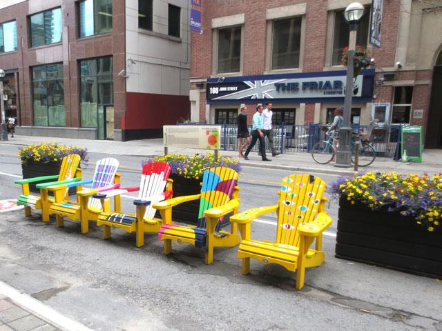 painted-chairs-on-john-street-toronto-june-2015