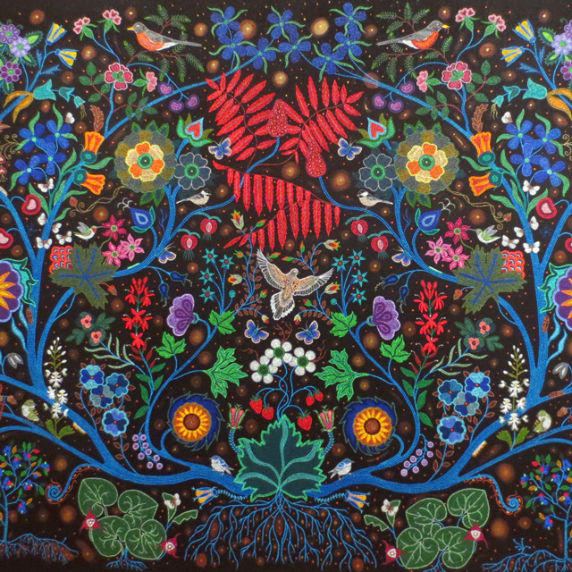 details-of-painting-by-christi-belcourt-at-ago-art-gallery-of-ontario