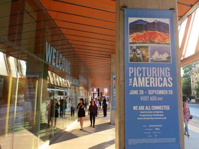 picturing-the-americas-exhibit-at-ago-toronto-poster-outside-gallery