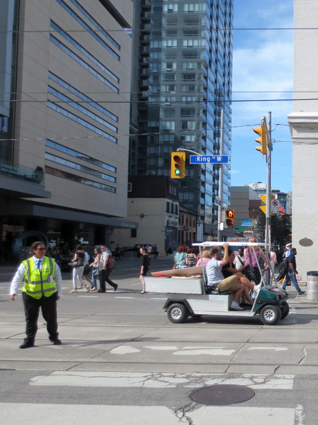 golf-cart-on-king-street-west