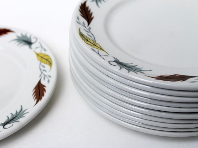 thrifted-vintage-grindley-side-plates-duraline-vitrified-hotelware-country-fair-pattern