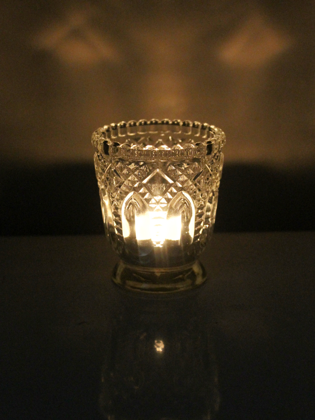thrifted-votive-candle-holder-pressed-glass