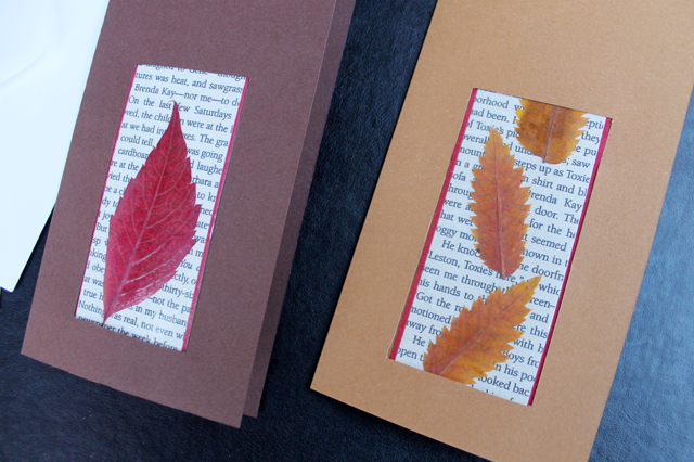how-to-make-greeting-cards-that-include-a-bookmark-with-pressed-leaves