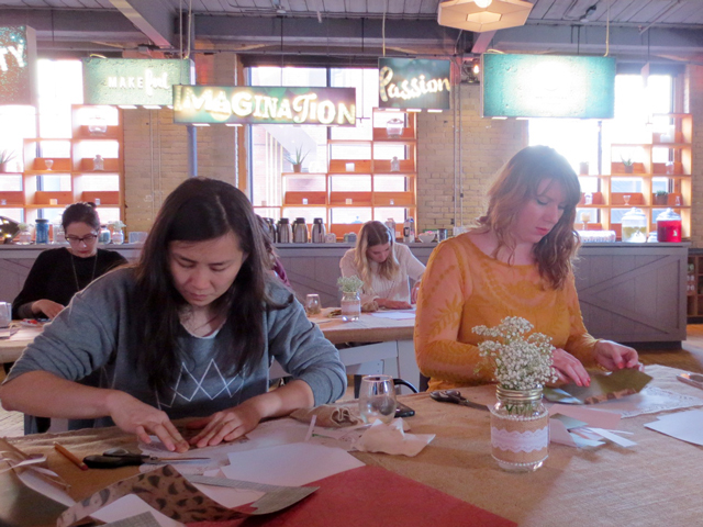making-envelopes-at-makeful-holiday-craft-workshop-toronto-bemakeful