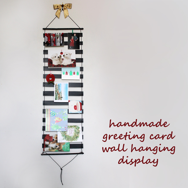 handmade-greeting-card-holder-display-wall-hanging-christmas-diy