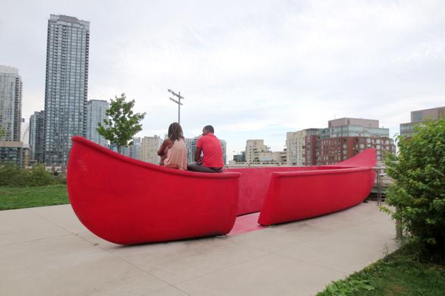 canoe-landing-park-toronto-big-red-canoe