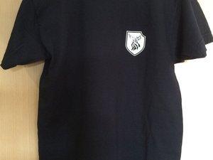T-shirt noir (devant/derrière). Tailles : de S à XL. Pour avoir l'image en grand, cliquez dessus