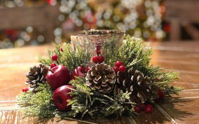 Decoración floral navideña con Celine Boroli y Carolina Bouquet