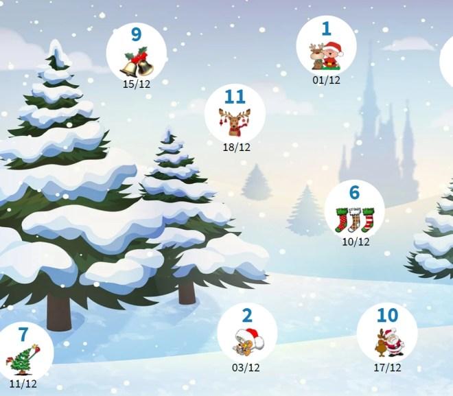 Calendrier décembre avant vacances 2020