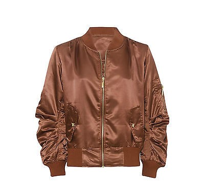042443469cb Home   Women   Jackets   Women Ladies Satin MA1 Bomber Jacket Vintage  Summer Coat Flight Army Biker Retro