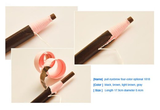 waterproof eyebrow pull-pencil