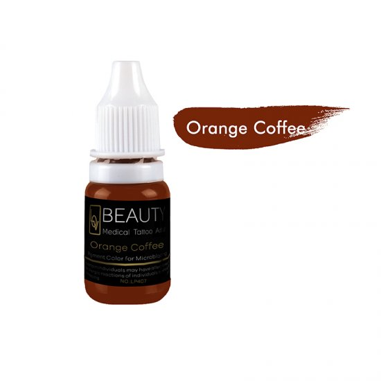 Medical Grade micro cream pigment for eyebrow Orange Coffee
