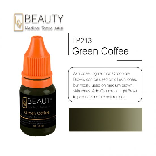 Microblading pigment for permanent makeup Green Coffee