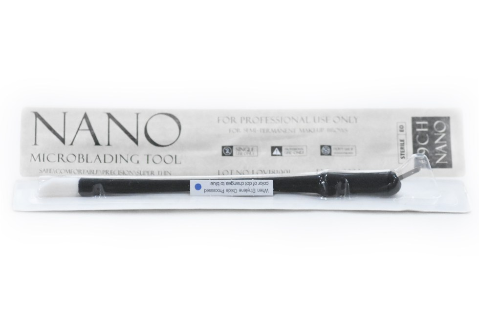 Nano Disposable Microblading pen with Hard C9 blades with brush